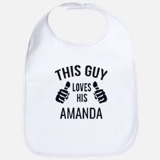 Amanda- love Baby Bib