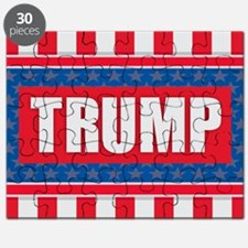 Trump - American Flag Puzzle