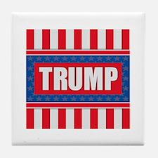 Trump - American Flag Tile Coaster