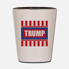Trump - American Flag Shot Glass