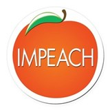 Impeach trump Round Car Magnets