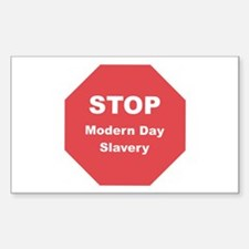STOP Modern Day Slavery Rectangle Decal