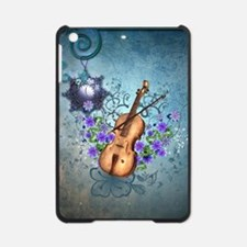Wonderful violin with violin bow and flowers iPad
