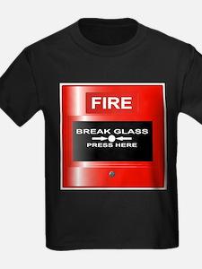 Fire Emergency Red Button T-Shirt