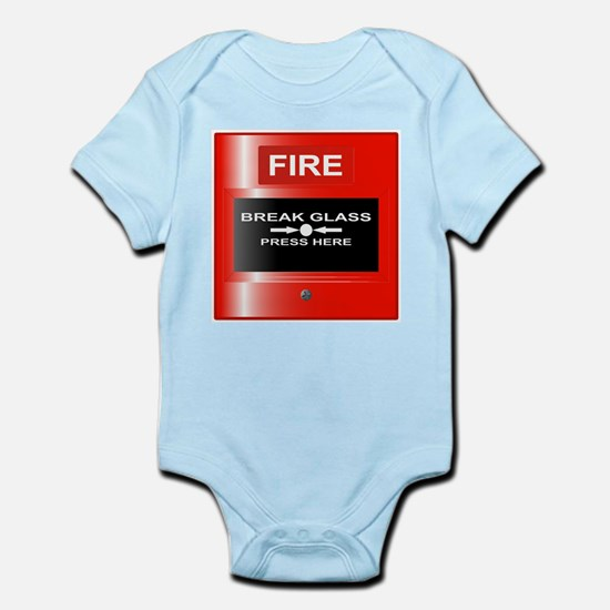 Fire Emergency Red Button Body Suit