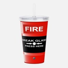 Fire Emergency Red But Acrylic Double-wall Tumbler