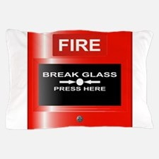 Fire Emergency Red Button Pillow Case
