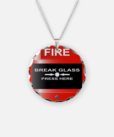 Fire Emergency Red Button Necklace