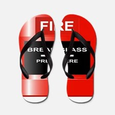 Fire Emergency Red Button Flip Flops
