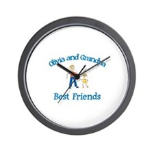 Olivia & Grandpa - Best Frien Wall Clock