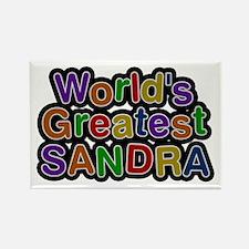 World's Greatest Sandra Rectangle Magnet