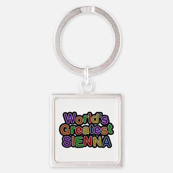 World's Greatest Sienna Square Keychain