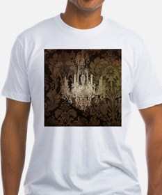 steampunk damask vintage chandelier T-Shirt