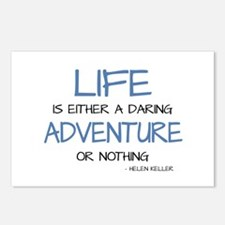 LIFE IS A DARING ADVENTURE Postcards (Package of 8