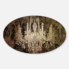 steampunk damask vintage ch Bumper Stickers