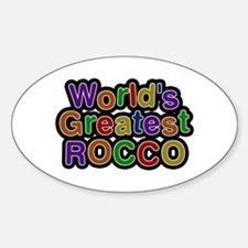 World's Greatest Rocco Oval Decal