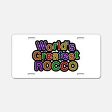 World's Greatest Rocco Aluminum License Plate