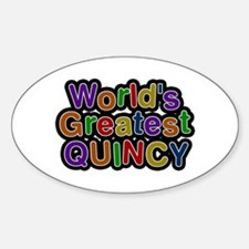 World's Greatest Quincy Oval Decal