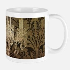 steampunk damask vintage chandelier Mugs