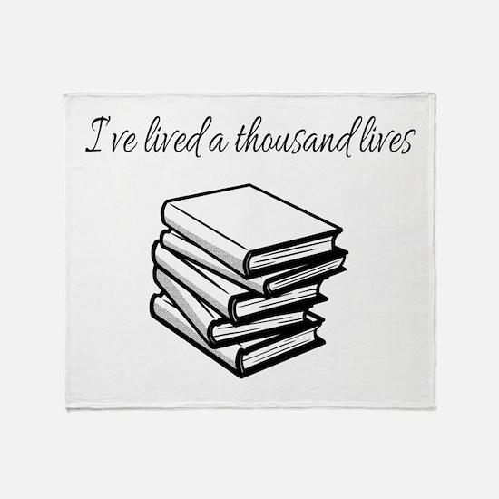 Funny Bookworm Throw Blanket