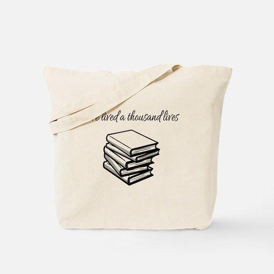Cute Bookworm Tote Bag