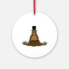 Groundhog Round Ornament
