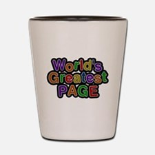 Worlds Greatest Page Shot Glass