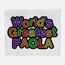 World's Greatest Paola Throw Blanket