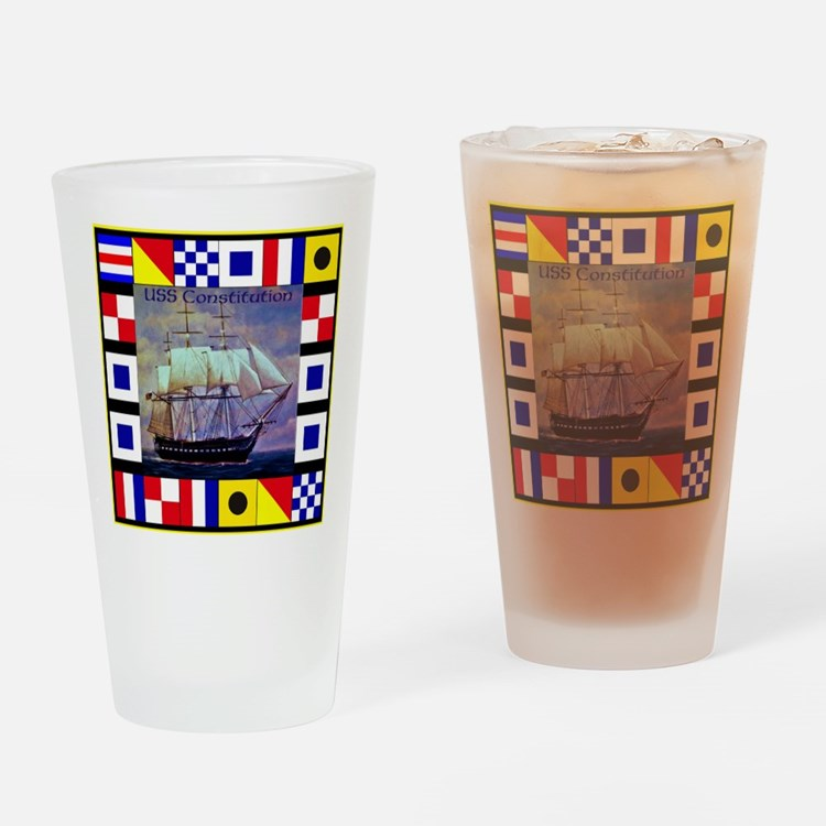 USS Constitution Drinking Glass
