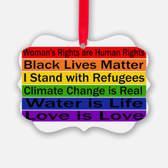 Political Protest Ornament