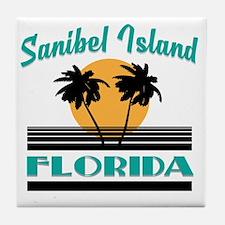 Cute Sanibel island florida Tile Coaster