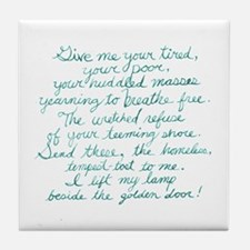 Lest we forget the words of the Statu Tile Coaster
