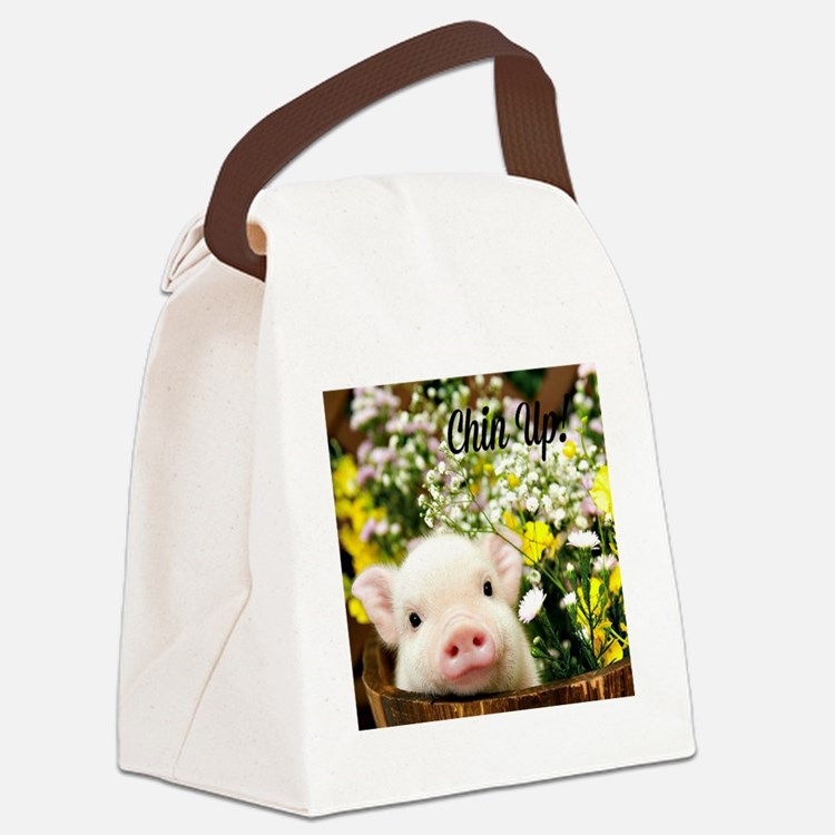Chin Up! Canvas Lunch Bag