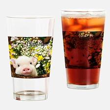 Chin Up! Drinking Glass