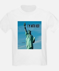 Women's Marches–I'm With Her Lady Li T-Shirt