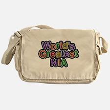 Worlds Greatest Nia Messenger Bag