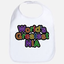 Worlds Greatest Nia Baby Bib