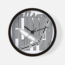 Balisong Flipper Wall Clock