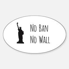 No Ban No Wall Decal