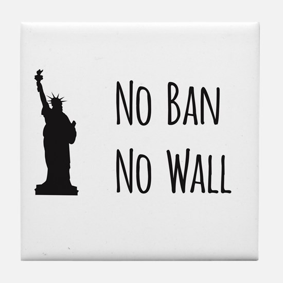 No Ban No Wall Tile Coaster