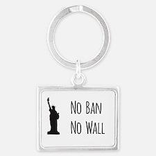 No Ban No Wall Keychains