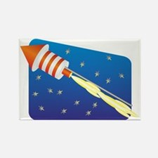 Funny Blue fire Rectangle Magnet