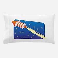 Orange & White Fireworks Rocket Pillow Case