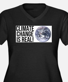 Climate Change is Real! Planet E Plus Size T-Shirt