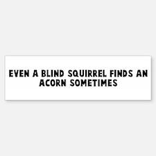 Even a blind squirrel finds a Bumper Bumper Bumper Sticker