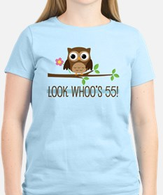 55th Birthday Owl T-Shirt