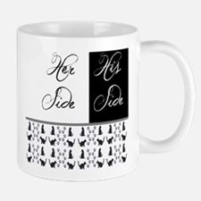 her,his, cat Mugs