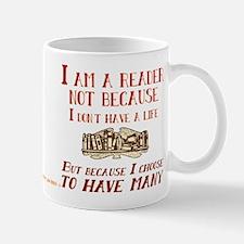 I am a reader and have many lives Mugs