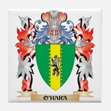 O'Hara Coat of Arms - Family Cres Tile Coaster