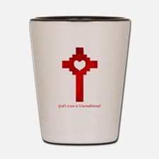 God's Love Is Unconditional Shot Glass